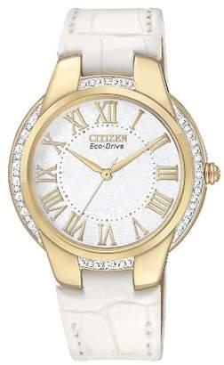 Citizen Women's EM0092-01A Ciena Eco-Drive Gold Tone Watch