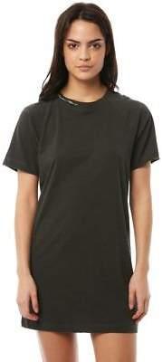 Volcom New Women's Boyfriend Me Dress Crew Neck Short Sleeve Cotton Black