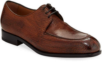 Salvatore Ferragamo Men's Pavia Special Edition Lace-Up Sharkskin Shoe
