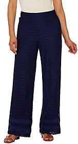Isaac Mizrahi Live! Regular Wide Leg Lace PullOn Pants