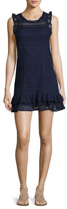 Joie Lindell Mixed-Lace Sleeveless Dress $298 thestylecure.com