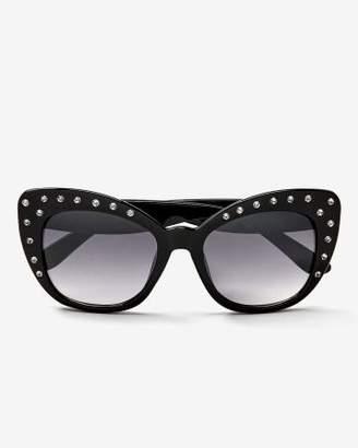 Addition Elle Cat-Eye Sunglasses with Rhinestones