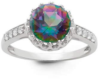 FINE JEWELRY Genuine Mystic Green Topaz Sterling Silver Ring