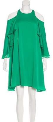 Halston Cold Shoulder Knee-Length Dress w/ Tags