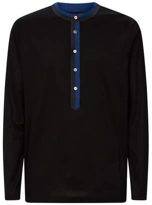 Contrast Trim Long-Sleeve T-Shirt