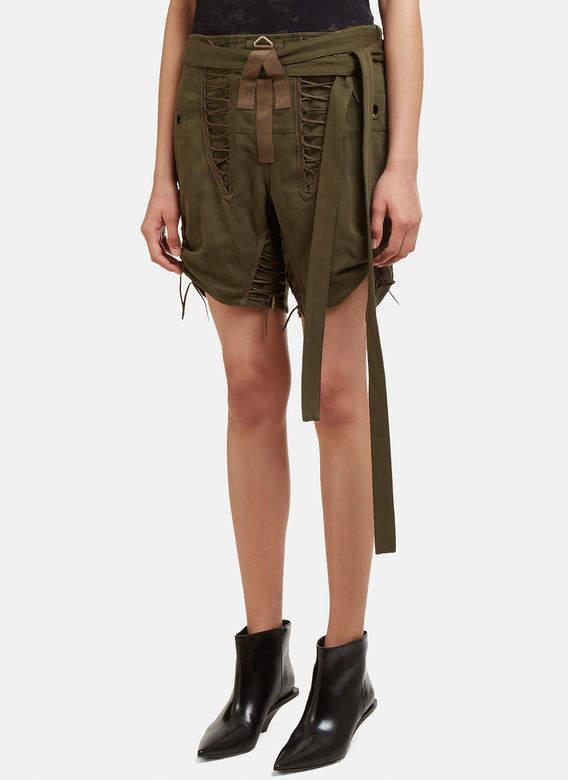 Corset Shorts in Khaki