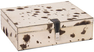 Barclay Butera for Bradburn Home Palomino-Hide Box - Cream/Brown