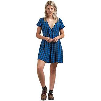 Volcom Junior's Check Out Time Babydoll Dress
