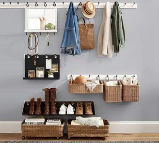 Pottery Barn Entry Mirror with Hooks