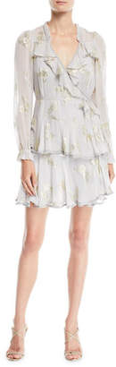 Needle & Thread Lurex® Butterfly Ruffle Wrap Mini Dress