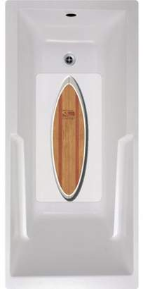 No Slip Mat by Versatraction Carve Woody Surfboard Bath Tub and Shower Mat