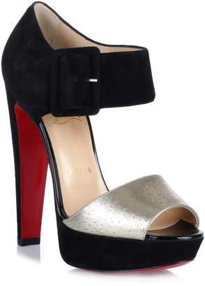 Christian Louboutin Haute Retenue black suede sandal