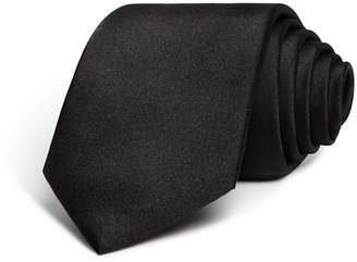 The Men's Store at Bloomingdale's Solid Satin Skinny Tie $59 thestylecure.com