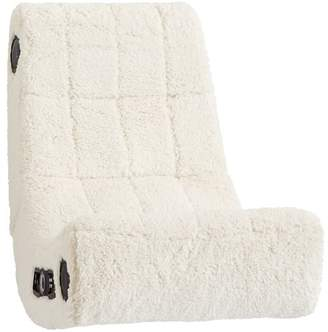 Pottery Barn Teen Faux-Fur Modern Media Chair, Ivory Sherpa