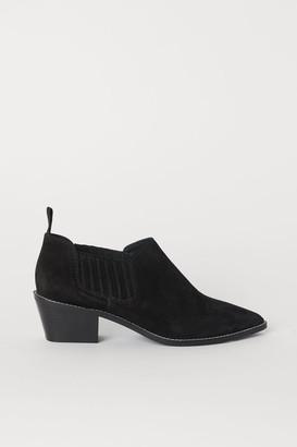 H&M Suede Boots - Black