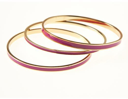 Women's Set of 3 Enamel Bangles