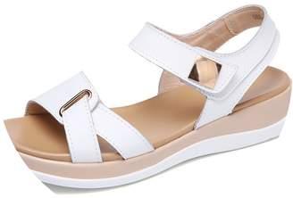 New-Loft Genuine Leather Flat Sandals Ankle Strap Platform Sandals Ladies Sexy Wedge sandalsC259