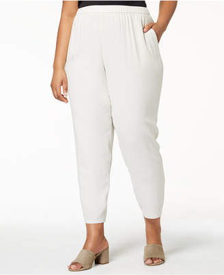 Eileen Fisher Plus Size SYSTEM Silk Pull-On Pants