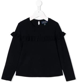 Ralph Lauren ruffle trim sweatshirt