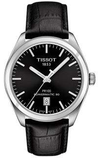 Tissot PR 100 Stainless Steel Leather Watch