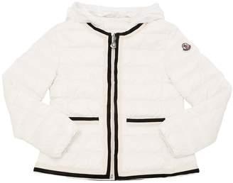 Moncler Tecla Hooded Nylon Down Jacket