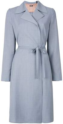 Jil Sander Navy string tie coat