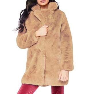 Realdo Womens Faux Fur Coat Clearance Sale, Warm Jacket Parka Outerwear