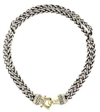 David Yurman Rhodolite Garnet Buckle Wheat Chain Necklace yellow Rhodolite Garnet Buckle Wheat Chain Necklace