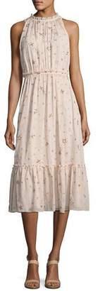 Kate Spade Amanda High-Neck Sleeveless Midi Cocktail Dress