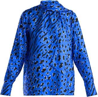 Valentino Leopard-print silk blouse