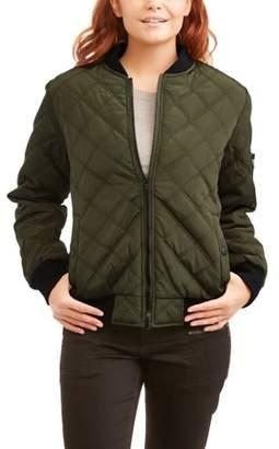 Harve Benard Women's Quilted Bomber Jacket