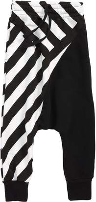 Nununu Half & Half Stripe Baggy Sweatpants