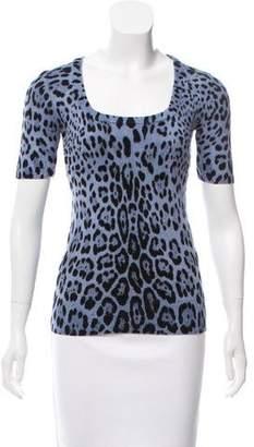 Dolce & Gabbana Leopard-Patterned Wool Sweater