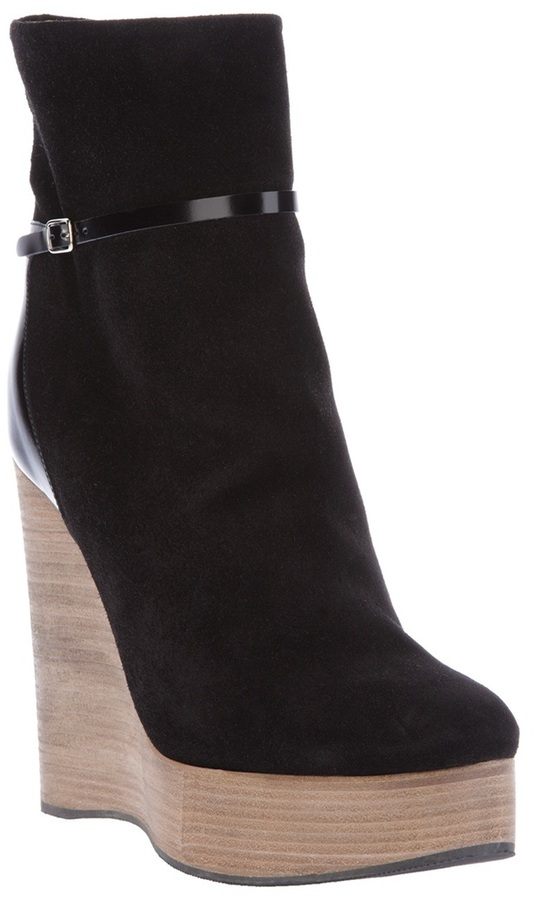 Chloé platform wedge ankle boot