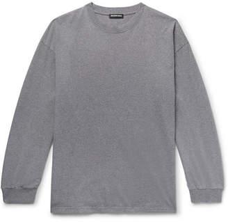 Balenciaga Embroidered Printed Mélange Cotton-Jersey T-Shirt