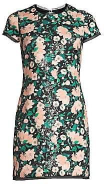 Rachel Zoe Women's Sonia Floral Sequin Open Back Mini Dress