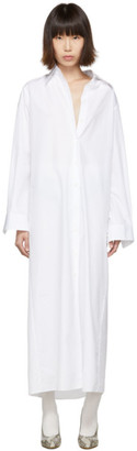 Maison Margiela White Long Shirt Dress