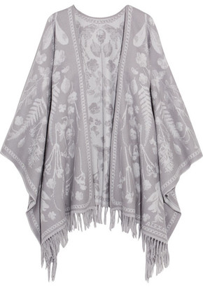 Alexander McQueen - Wool-jacquard Scarf - Gray $595 thestylecure.com