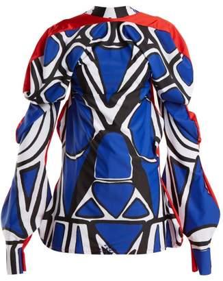 Matty Bovan - Dot Print Top - Womens - Blue Multi