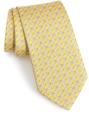 Salvatore Ferragamo Felice Print Silk Tie