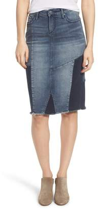 SLINK Jeans Patchwork Denim Skirt