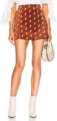 Chloé Horse Embroidered Mini Skirt