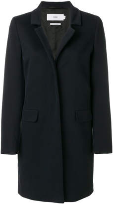 Closed concealed buttoned coat