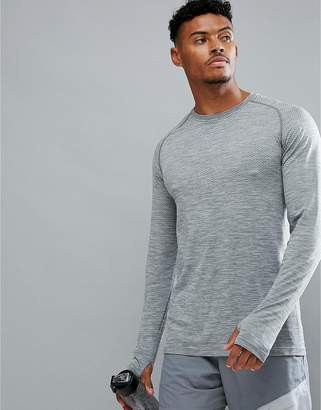 Nike Running Dri-Fit Long Sleeve Top In Grey 833565-066