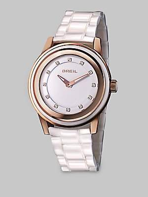 Breil Milano Women's Watch Orchestra 40 MM TW1013 MULTI-LAYER ROSE GOLD IP AND WHITE GLASS CASE