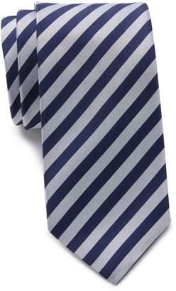 Thomas Pink Silk Ripley Stripe Skinny Tie