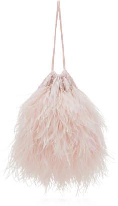 ATTICO Ostrich Feather Pouch