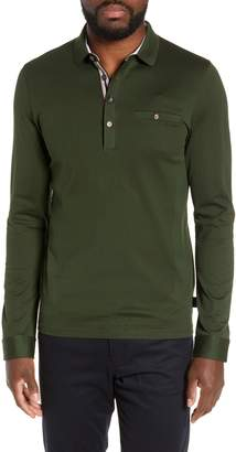 Ted Baker Fruitpa Slim Fit Long Sleeve Polo