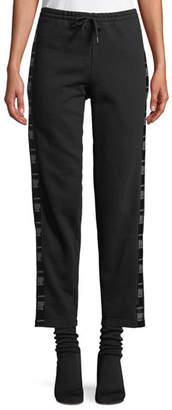 Vetements Straight-Leg Cotton Sweatpants with Tape Detail