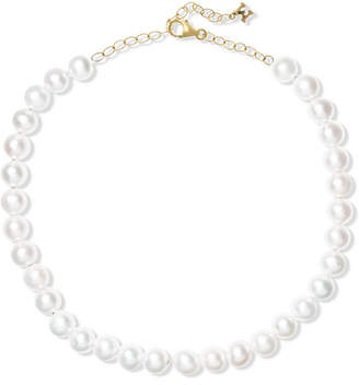 Mateo - 14-karat Gold Pearl Anklet - White